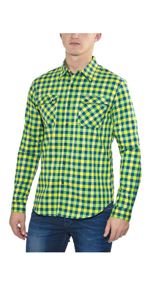 Cannondale Shop L/S Shirt Men blue/yellow